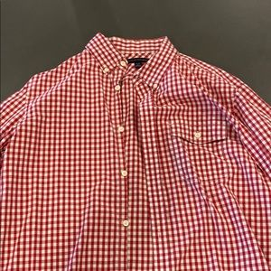 Large Mens checkered Banana Republic button down